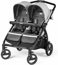 Peg Perego - Double Stroller - Side By Side - Book For Two - Brand New