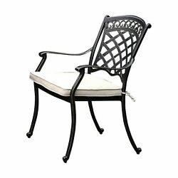 Benzara-charissa Transitional Arm Chair, Pack Of Two, Antique Black