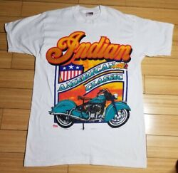 Vintage Indian Motorcycle T Shirt Large Single Stitch Officially Lic Deadstock