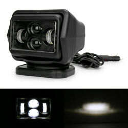 7 60w Led Search Light Rotating Remote Control Driving Spot Lamps Fit Truck Car
