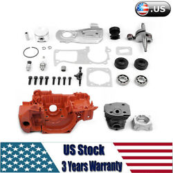 Crankcase Motor Engine Assembly Kit For Husqvarna 350 340 345 Chainsaw 7 Tooth