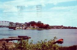 Indian Island From Old Town Me 1961 Home Of Remaining Penobscot Tribe