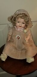"""Antique Flirty Eye 15"""" Composition Ideal Baby Shirley Temple Doll"""