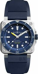 Brand New Bell And Ross Instruments Br-03-92-diver-blue 42mm Steel Menand039s Watch