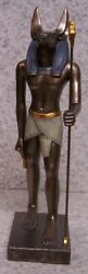 Figurine Statue Ancient Egypt Anubis God Of Dead And Embalming New With Gift Box
