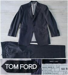 5995 Tom Ford Blue-striped Wool Suit In Basic Base D/spencer Cut 40r 50r 38r