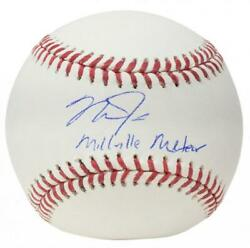 Mike Trout Signiert Cm Millville Meteor Angels Baseball Mlb Authentisch