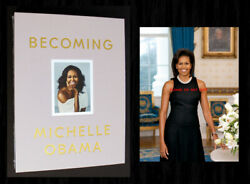 Michelle Obama Signed - Becoming Deluxe Ed, Sealed - With Bonus 5x7 Photo