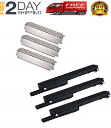 New Stainless Steel Heat Plate And Cast-iron Grill Pipe Burner For Charbroil 463