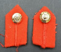 Royal Engineers Officer's Insignia Gorgets Red Tabs Q/c Pair