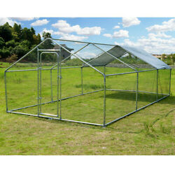 Large Metal Hutches Chicken Rabbit Gog Coop Cage Hen Run House With Waterproof