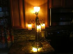 Vintage Antique World War 1 Trench Art Lamp Shell Light Military Collectible