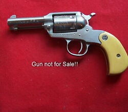 Pair Of Antique Gold Micarta Grips W/ruger Mdlns For Ruger Shopkeeper Models