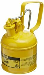 Justrite 10111 Type I Steel Diesel Fuel Safety Can 1l Capacity Yellow