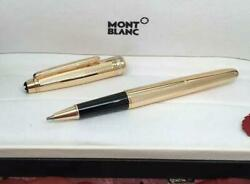 Luxury Mb 14k Gold Plated Gold/silver Rollerball Pen Classic Design