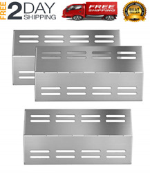 New Stainless Steel Grill Heat Plates Tent Shield Burner Cover