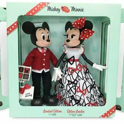 Disney Store Mickey Minnie Mouse Limited Edition Valentine's Day Doll Set 2021