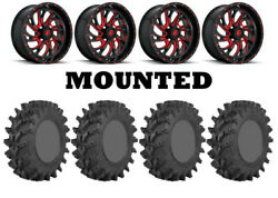 Kit 4 Sti Outback Max Tires 35x9-20 On Fuel Kompressor Red D642 Wheels Can