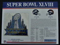 Super Bowl Xlviii 48 Patch Denver Broncos Vs Seattle Seahawks Willabee And Ward