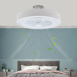 Modern Ceiling Fan With Light Dimmable Led Chandelier Lamp And Remote Lamp Fixture