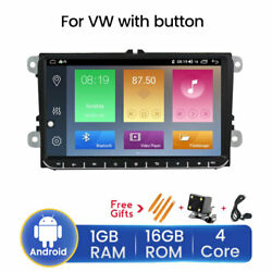 9 Android 10 Car Radio Stereo Gps Head Unit Navi Multimedia For Vw With Camera