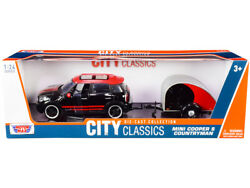 Mini Cooper S Countryman With Travel Trailer Black And Red City Classics