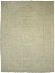 Muted Vintage Style Washed-out 9x12 Large Floral Handmade Oriental Rug Carpet