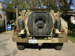 Used Tr Gear Spare Tire Carrier W/duel Jerry Can Mount Brks, For Hmmwv M998 A