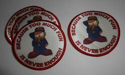 Lot Of 4 Garfield Cub Boy Scout Badges 3andrdquo Round
