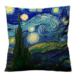 Best Van_gogh_starry_night_abstract Throw Pillow Case Cushion 16 1820 Cover
