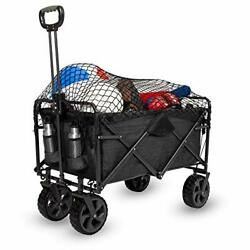 Xl Heavy Duty Collapsible Outdoor Folding Wagon Camping Gear Grocery Cart