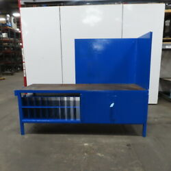 1/4 Thick Top Steel Fabrication Welding Layout Table Work Bench 94x30x36