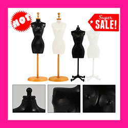 4 Pcs Dress Form Manikin Body With Base Stand For Sewing Dressmakers Black White
