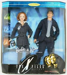New• The X-files Barbie And Ken 1998 Dana Scully And Fox Mulder Gift Set Sealed