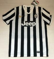 3932 Nike Juventus 2013/14 Shirt Competition Home + Patch Scudetto Italy T-shirt