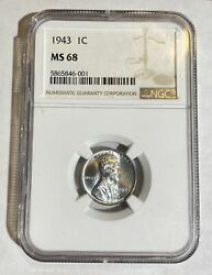 Small Cents Lincoln Wheat 1943 P Ngc Ms-68