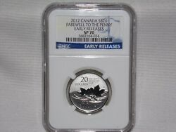 Rare 2012 Ngc Sp 70 Silver 20, Canada Farewell To The Penny.. Early Releases