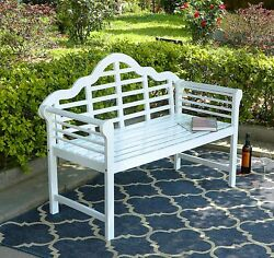 Outdoor Garden Bench 53andrdquol Acacia Wood Bench With Backrest And Armrests