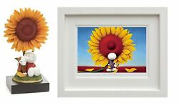 Here Comes The Sun Framed And My Sunshine Sculpture By Doug Hyde. Matching Nos