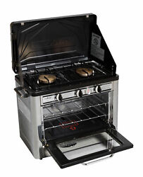 Camp Chef Outdoor 2-burner Range With Oven New Free Shipping