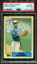 1987 Topps Traded 74t Fred Mcgriff Ftc Blue Jays Psa 10 B3003928-004