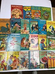 Lot Of 21 Vintage 1950-60andrsquos Childrenand039s Books Rand Mcnally Elf Wonder Books