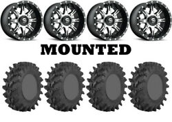 Kit 4 Sti Outback Max Tires 32x10-14 On Fuel Nutz Machined D541 Wheels Fxt