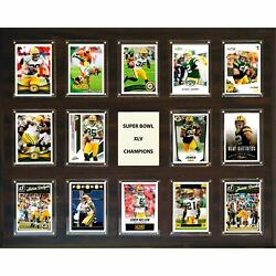 Candi Collectables-nfl 16x20 Green Bay Packers Super Bowl 45 - 14-card Plaque