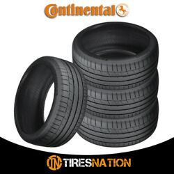 4 New Continental Extremecontact Sport 295/30r20 101y Performance Summer Tire
