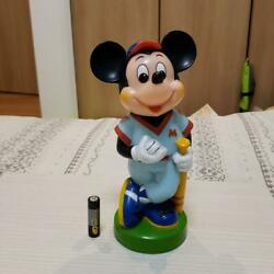 Retro Mickey Mouse Soft Vinyl Piggy Bank Out Of Print Used Made In Japan/17d