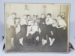 Vintage Fun Party Photo Young Kids Drinking Glass Bottles Purity Beer Toy Lamb