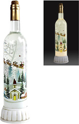 Christmas Snow Globes Musical Wine Bottle Battery Or Usb Operated Led Lighted Sw