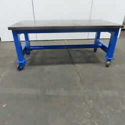 1-7/8 Thick Steel Fabrication Layout Welding Table Work Bench 75x36x32-1/2