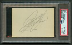 Judy Garland Signed Autograph 3x4 Cut Dorothy Gale In The Wizard Of Oz Psa Slab
